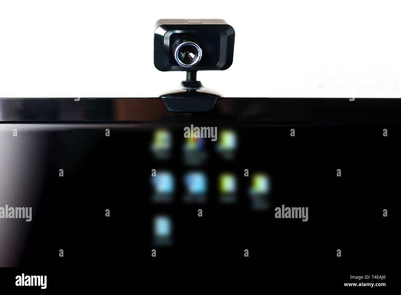 USB Webcam, Web Camera, Mounted on Computer Monitor with