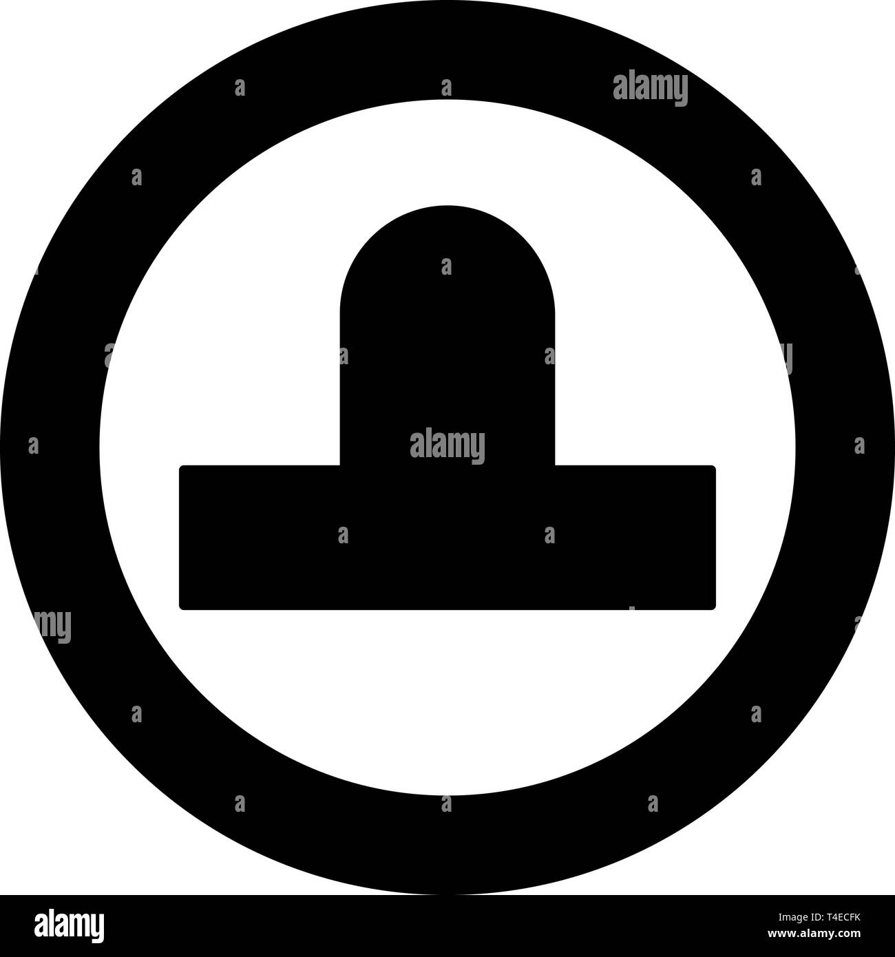 Bit aero hockey icon in circle round black color vector illustration flat style simple image - Stock Vector