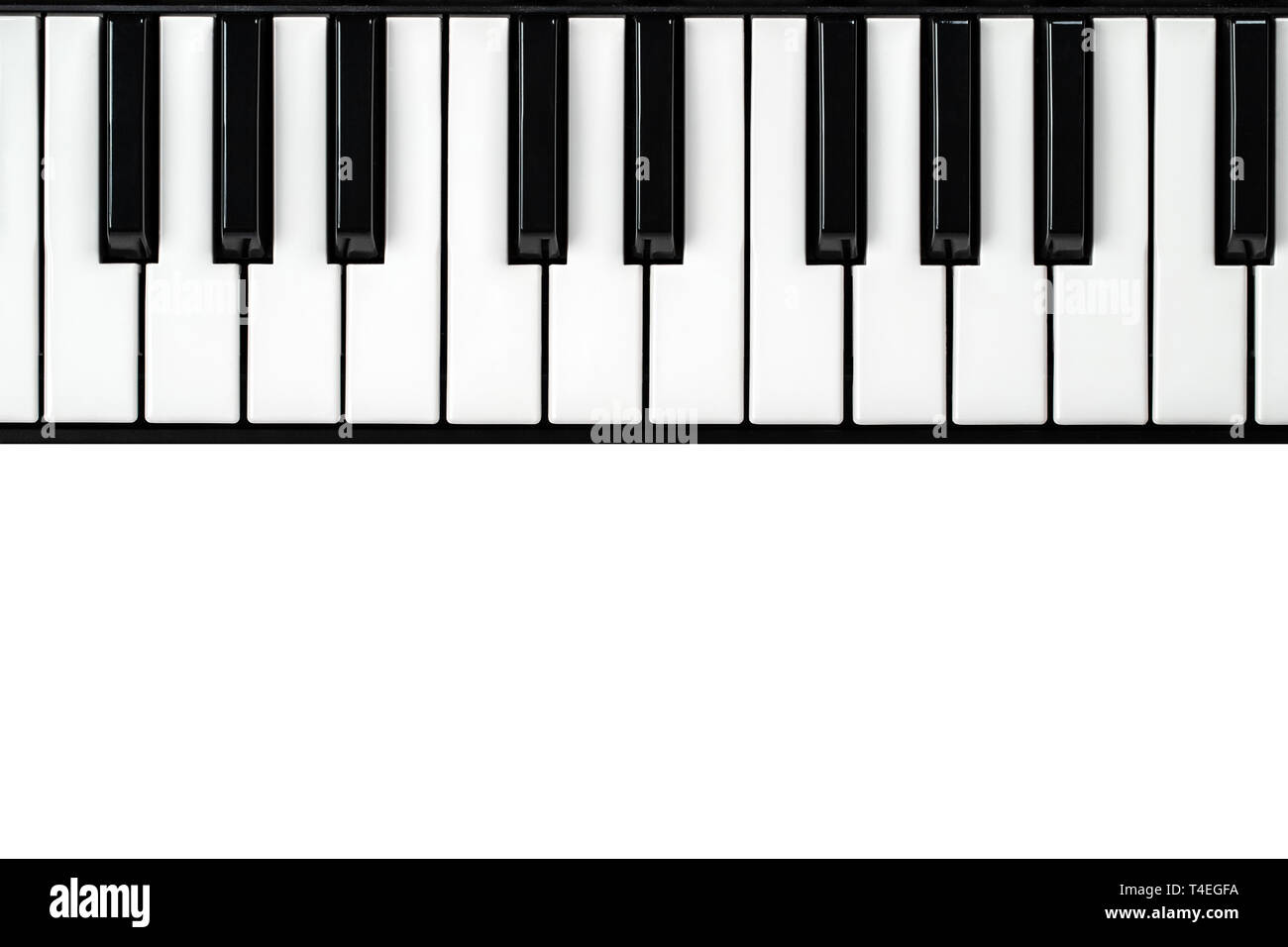 synthesizer keyboard on isolated white background with empty space for text. - Stock Image