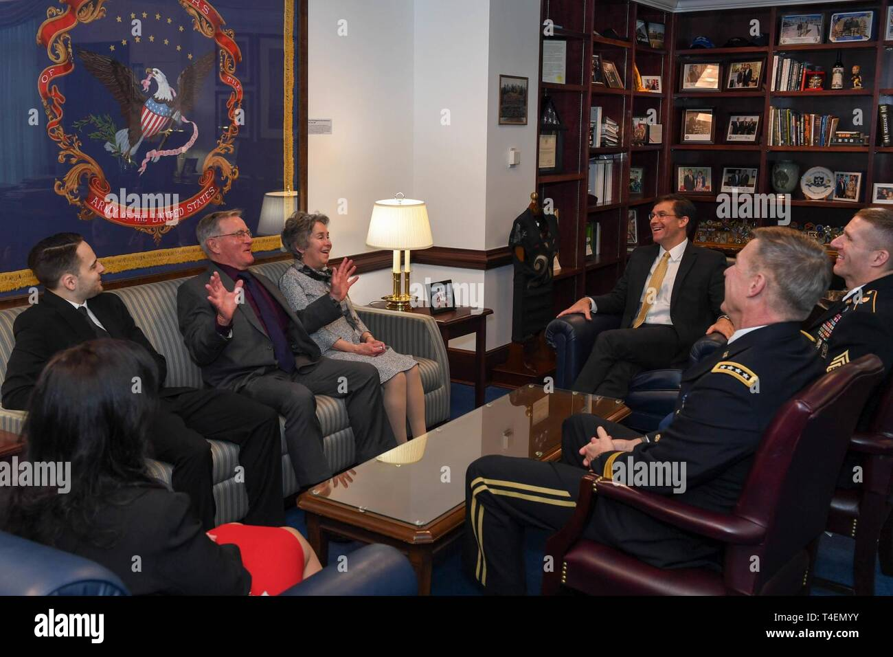 Secretary of the Army Mark T  Esper, Vice Cheif of Staff of the U S