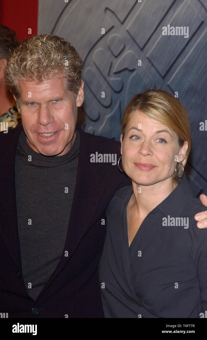 LOS ANGELES, CA  March 30, 2004: Actor RON PERLMAN & actress LINDA