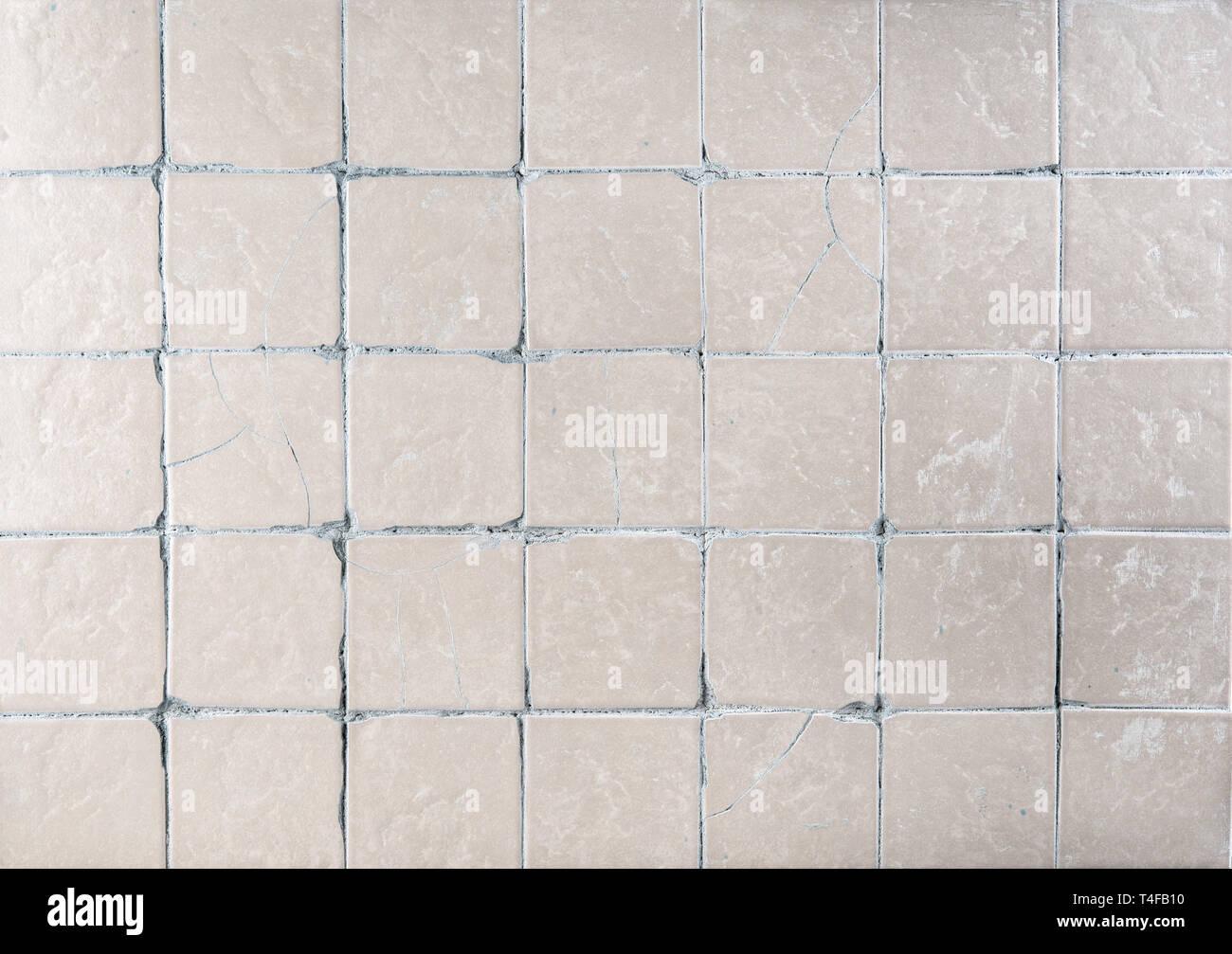 Background texture of retro kitchen ceramic tiles, close-up ...