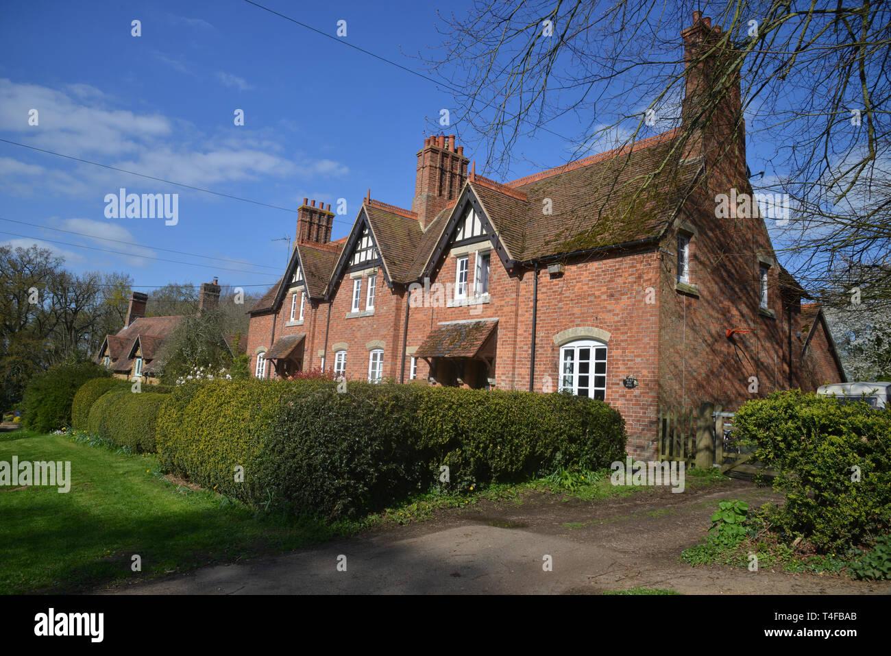 House in the Warwickshire village of Wormleighton captured in spring sunshine Stock Photo