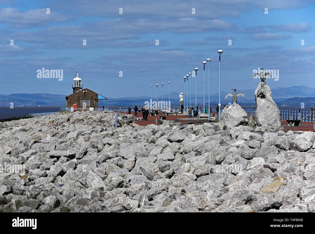 The Stone Jetty, Morecambe, Lancashire, England, United Kingdom, Europe. - Stock Image