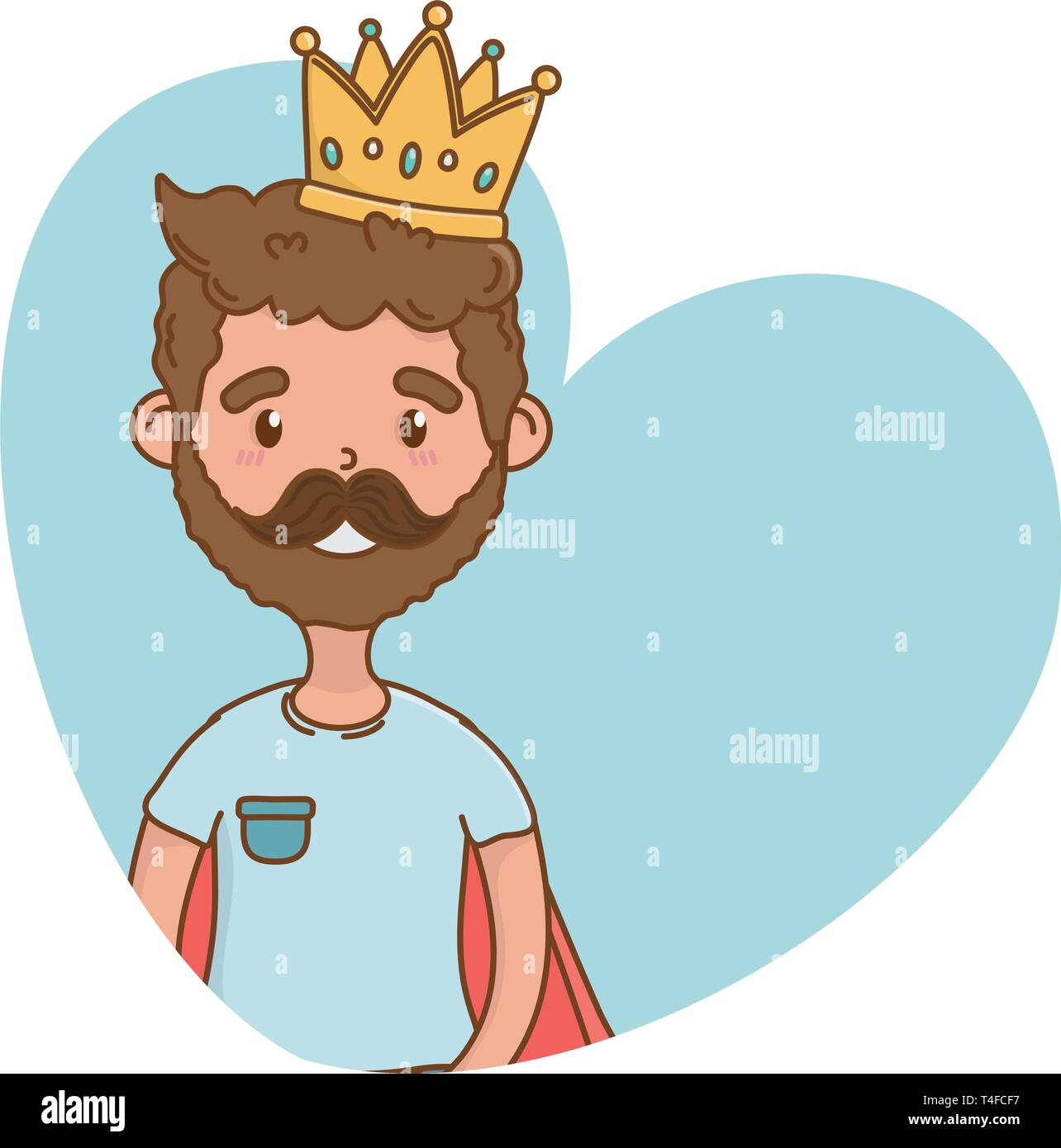 Man With Crown Icon Cartoon Beard Vector Illustration Graphic Design Stock Vector Image Art Alamy Happy fathers day, man with crown and coffee cup cartoon vector illustration. alamy