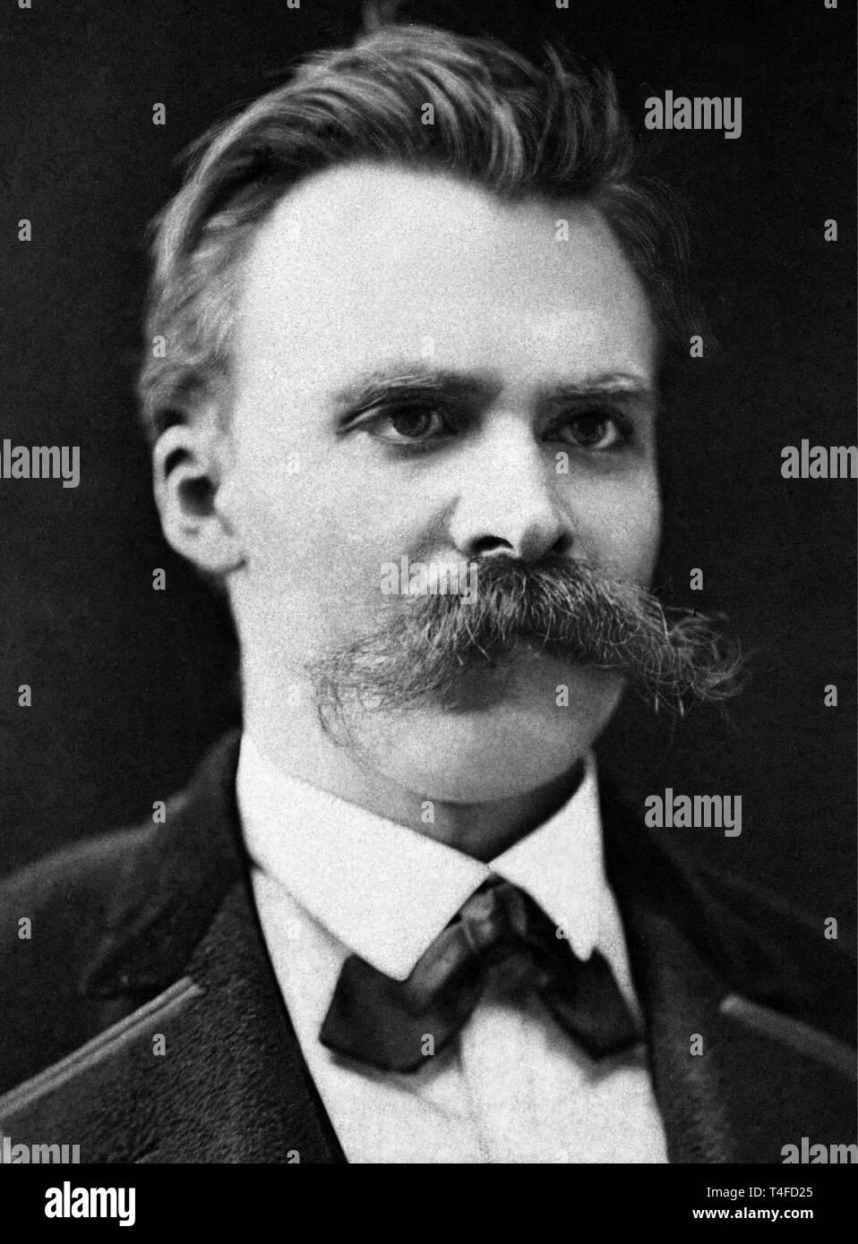 Friedrich Nietzsche, circa 1875. - Stock Image