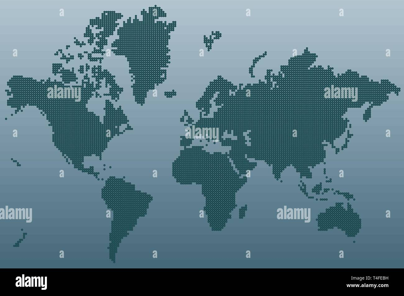 World map made with dots, vector illustration - Stock Vector