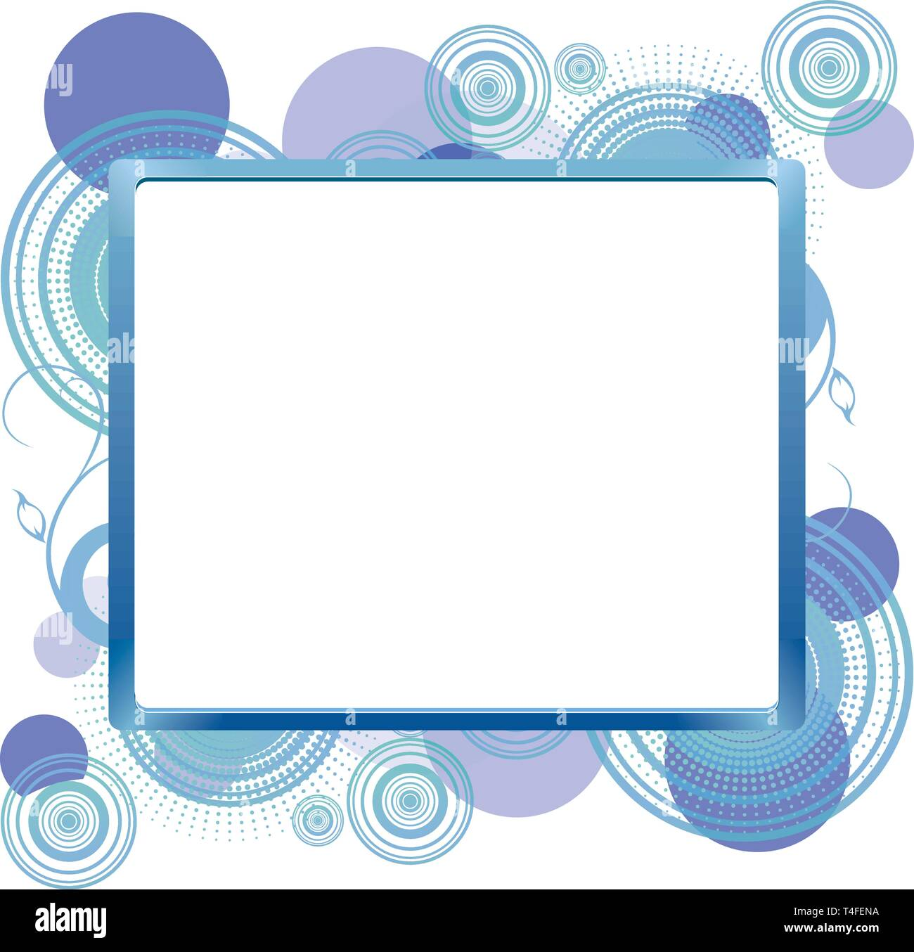 Frame for text on abstract background, vector illustration - Stock Image