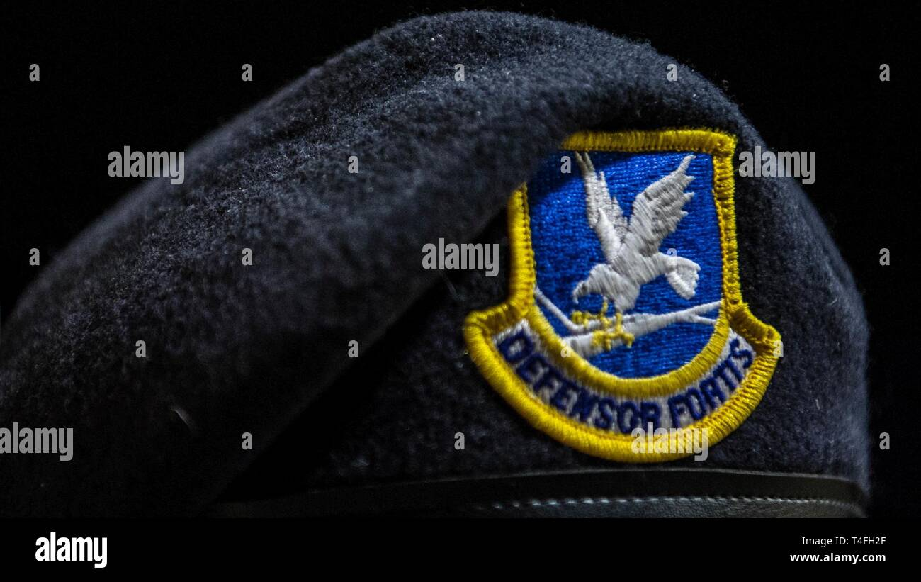 A Security Forces Beret is worn April 3, 2019, at Barksdale