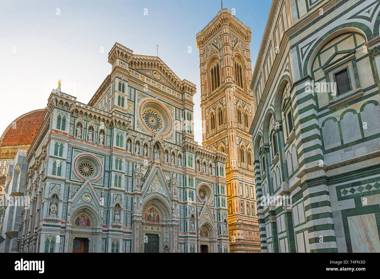 Florence Duomo. Basilica di Santa Maria del Fiore in Florence, Italy. Florence cathedral in the morning light Stock Photo