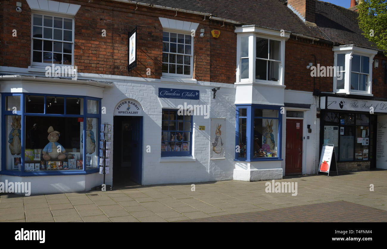 Shops on Henley Street in the Warwickshire town of Stratford upon Avon Stock Photo