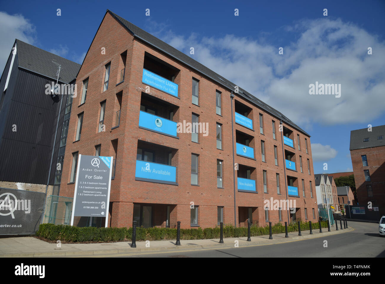 Arden Quarter, a housing development in the Warwickshire town of Stratford upon Avon close to the railway station Stock Photo