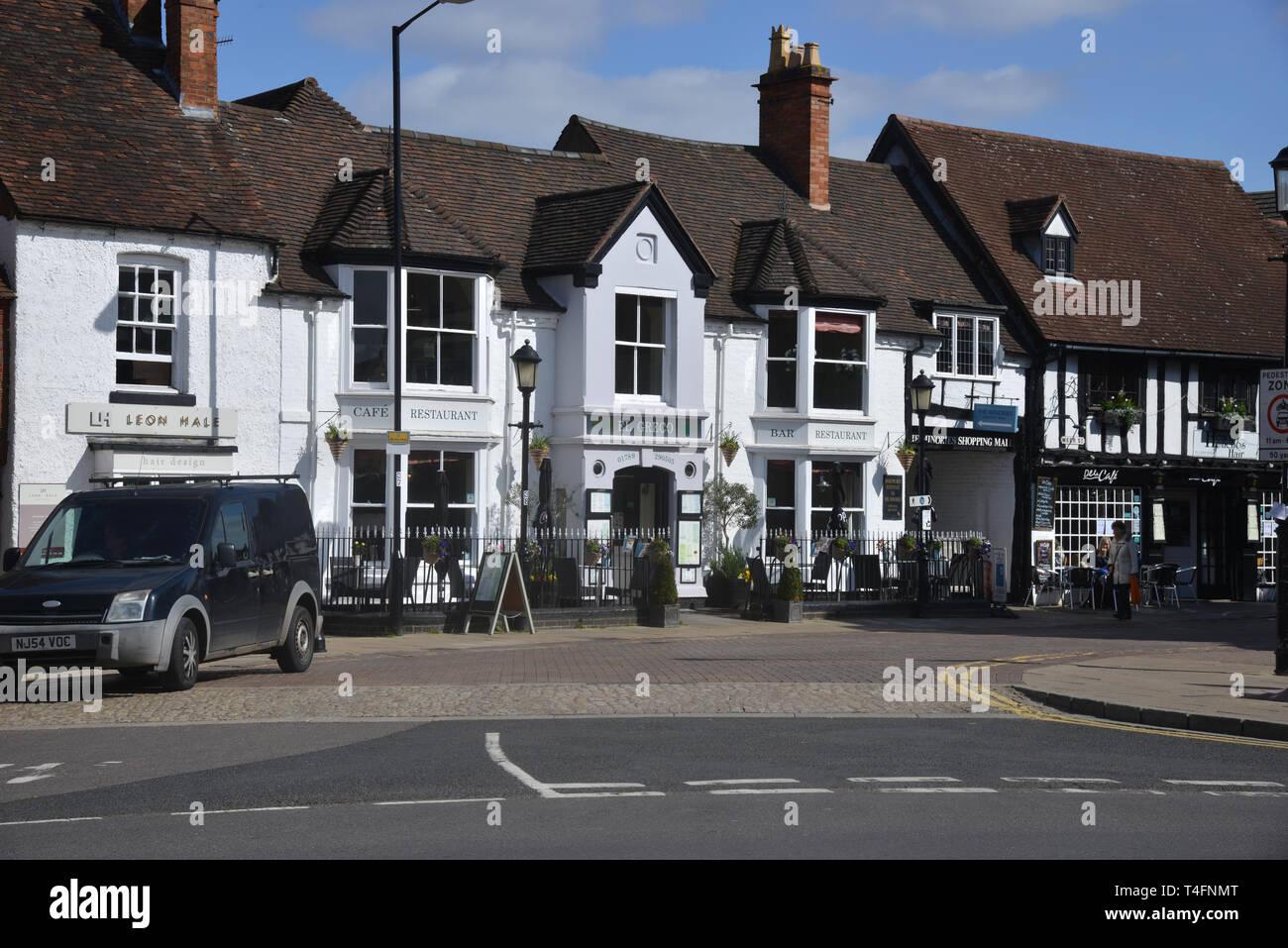 El Greco Restaurant, Meer Street, Stratford upon Avon, Warwickshire Stock Photo