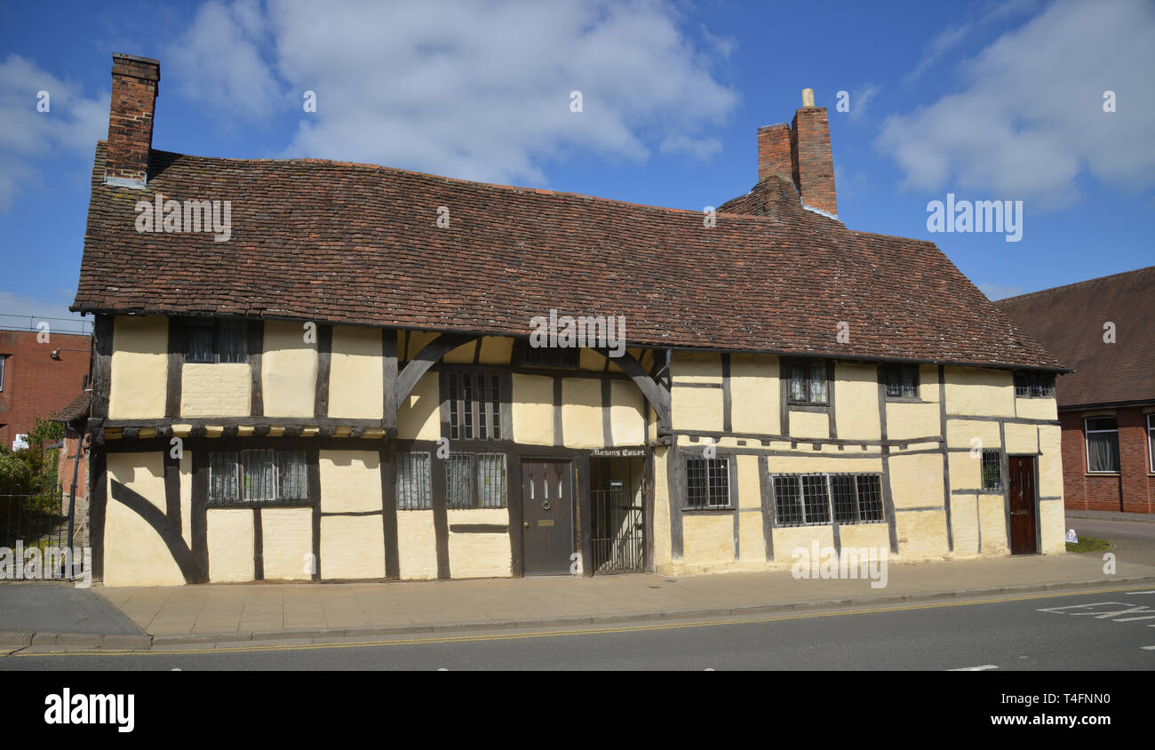 Masons court a 15th century building on Rother Street, Stratford upon Avon, Warwickshire, now a holiday rental property Stock Photo