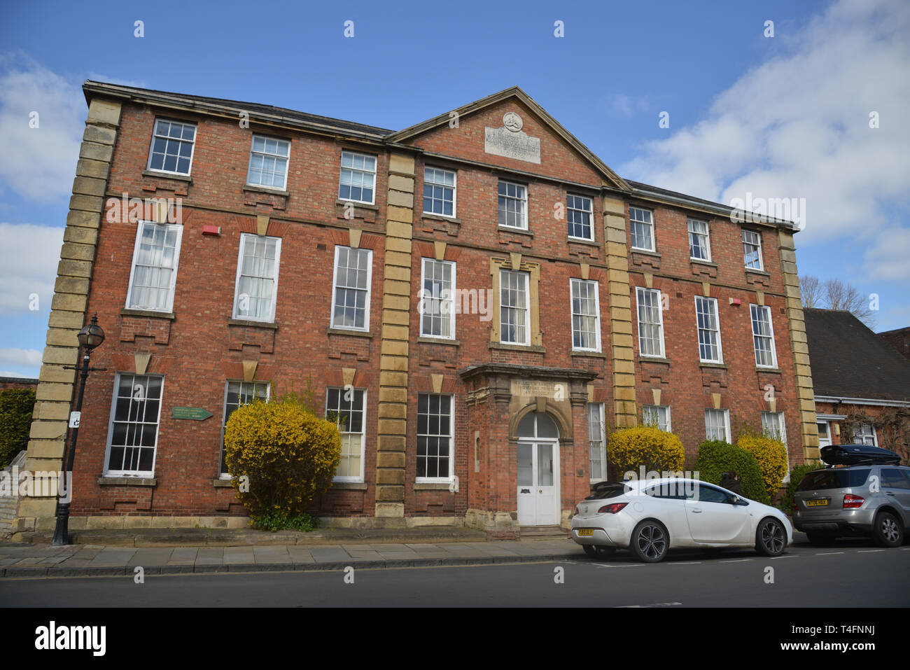 Former Trinity College School founded in 1870, a Grade II Listed Building on Church Street, Stratford upon Avon, Warwickshire Stock Photo