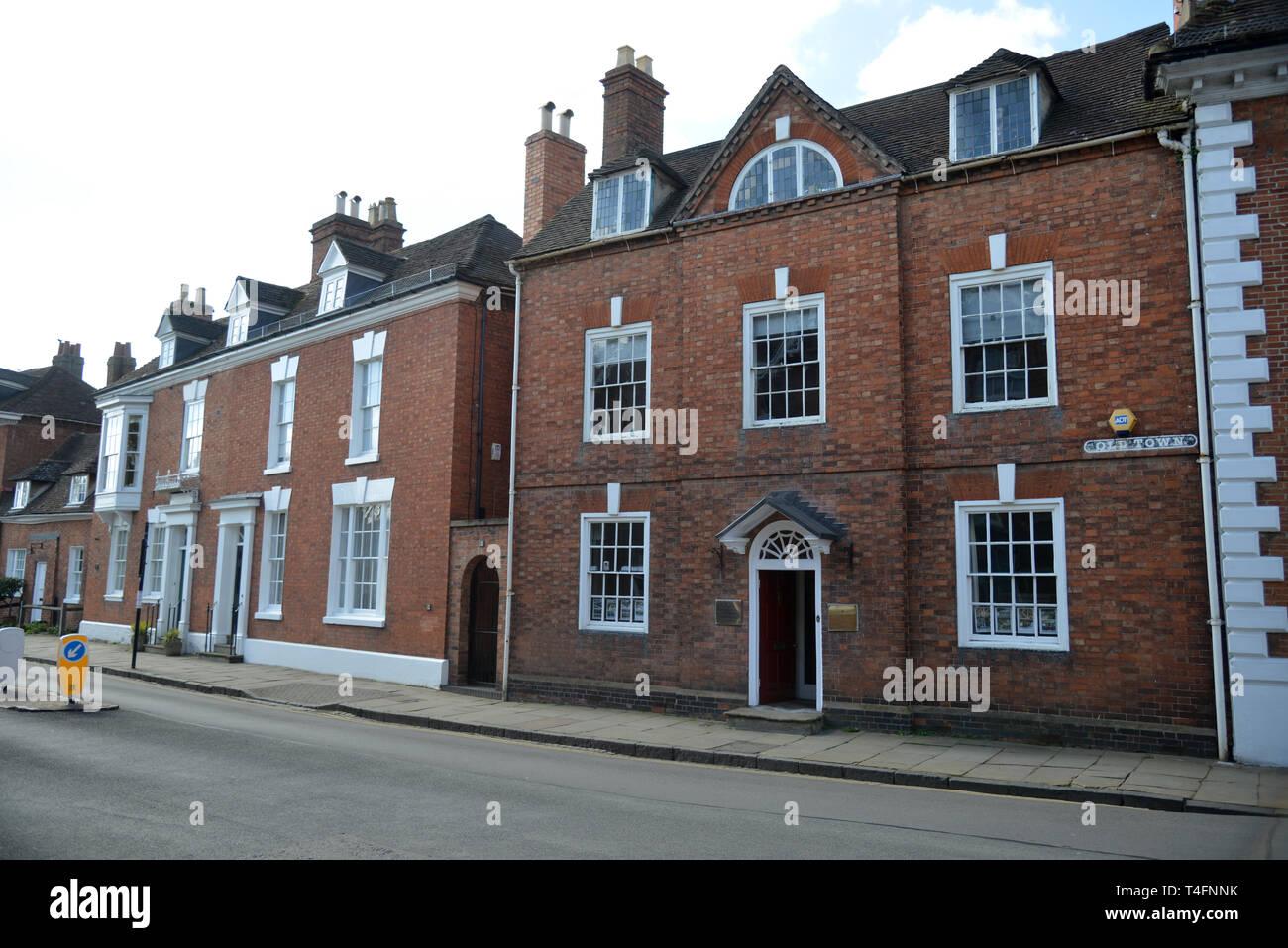 Properites on Old Town Stratford Upon Avon, Warwickshire Stock Photo