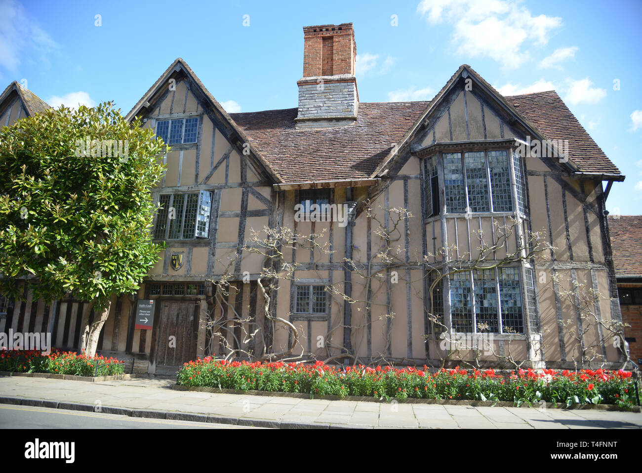 Halls Croft, Old Town, Stratford upon Avon, Warwickshire, the home of John Hall and his wife Susanna, daughter of William Shakespeare Stock Photo
