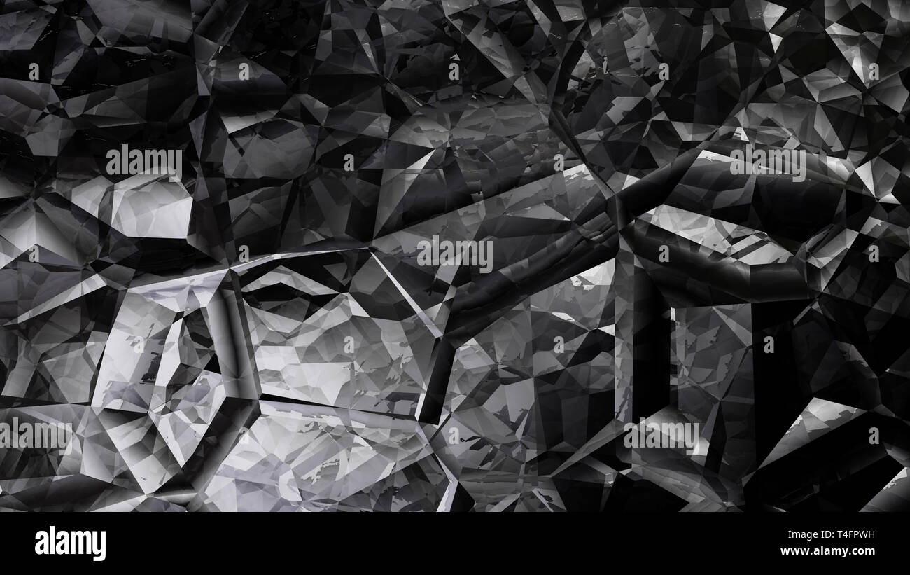 Abstract Cool Grey Crystal Background Image Stock Photo