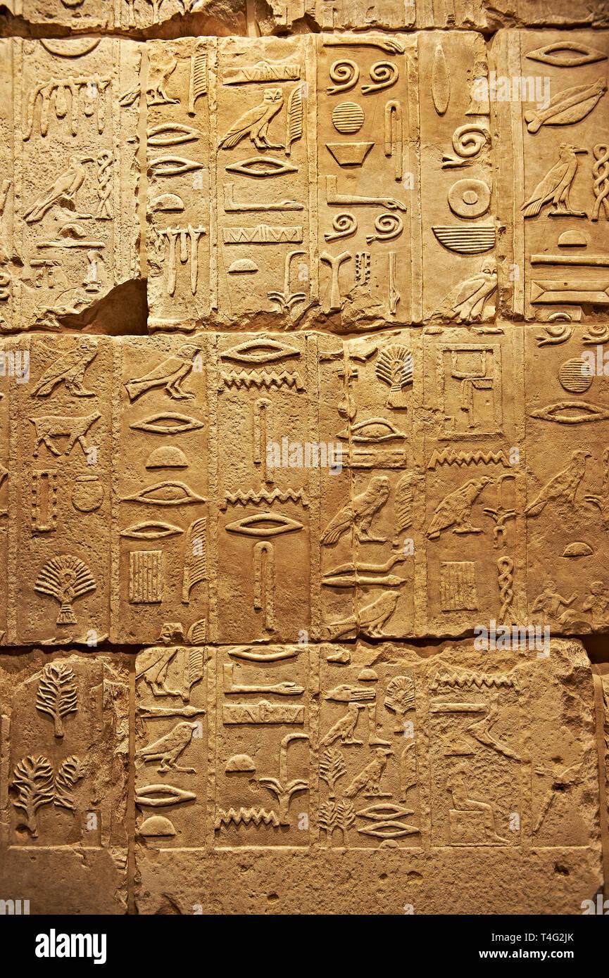 Egyptian Writing Stock Photos & Egyptian Writing Stock