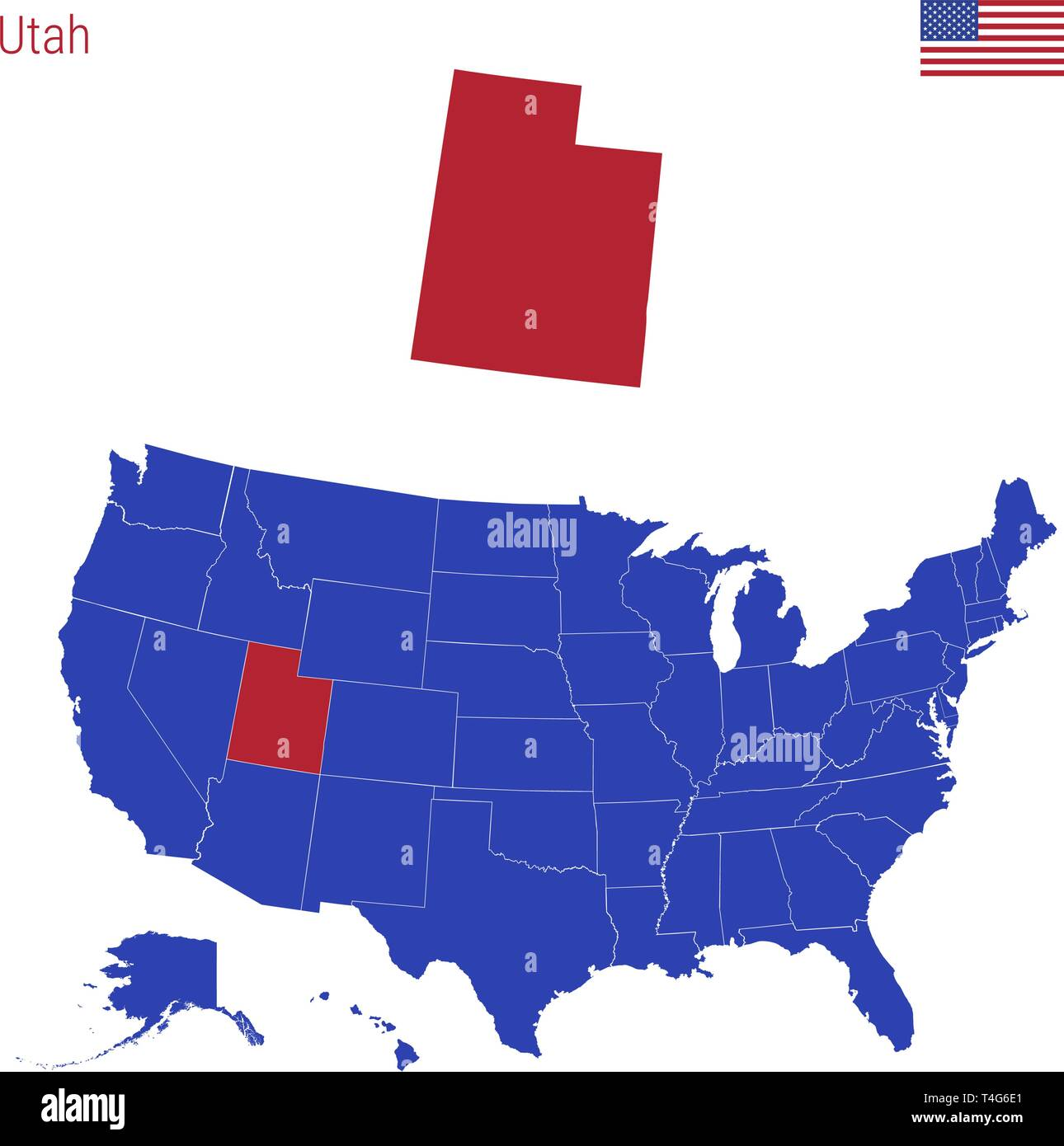 Utah Map Vector Stock Photos & Utah Map Vector Stock Images ...