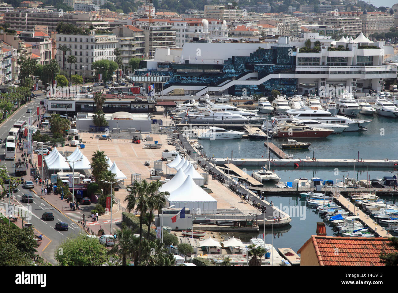Harbor, Port, Cannes, Cote d Azur, Alpes Maritimes, Provence, French Riviera, France, Europe - Stock Image