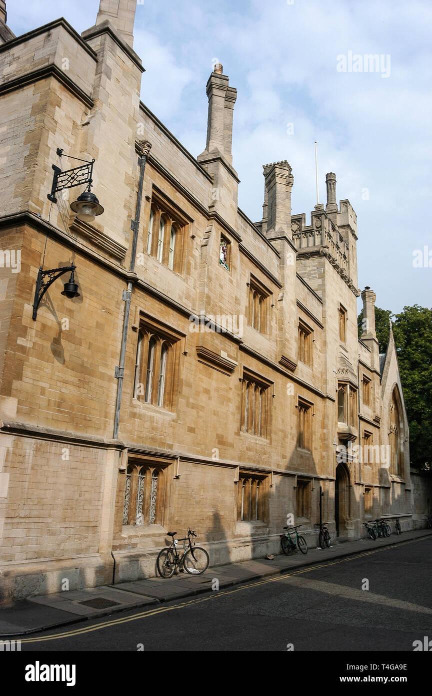 Jesus College in Turl Street, Oxford, Britain - Stock Image