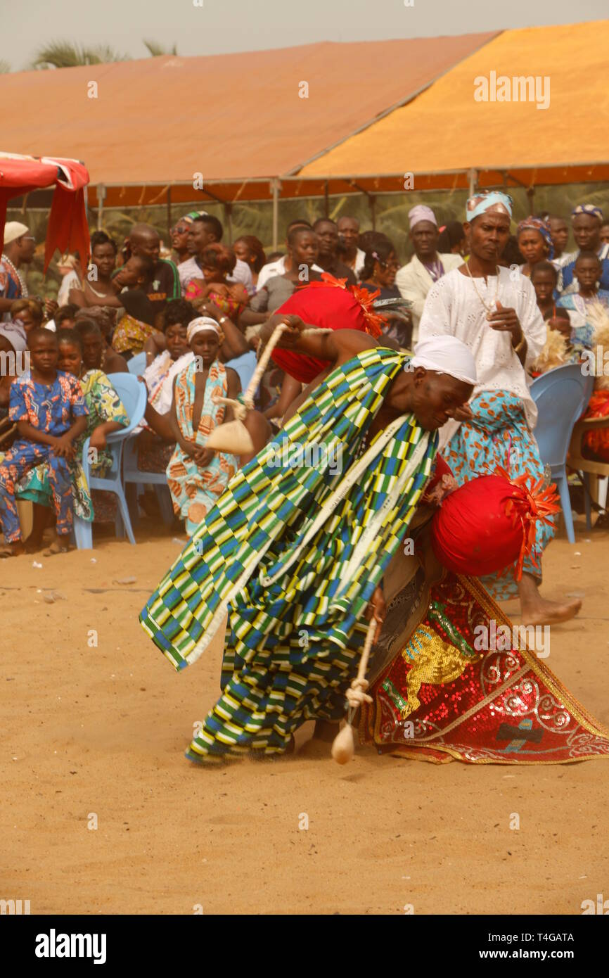 Voodoo festival Ouidah, Benin  Music, dance, singing at the