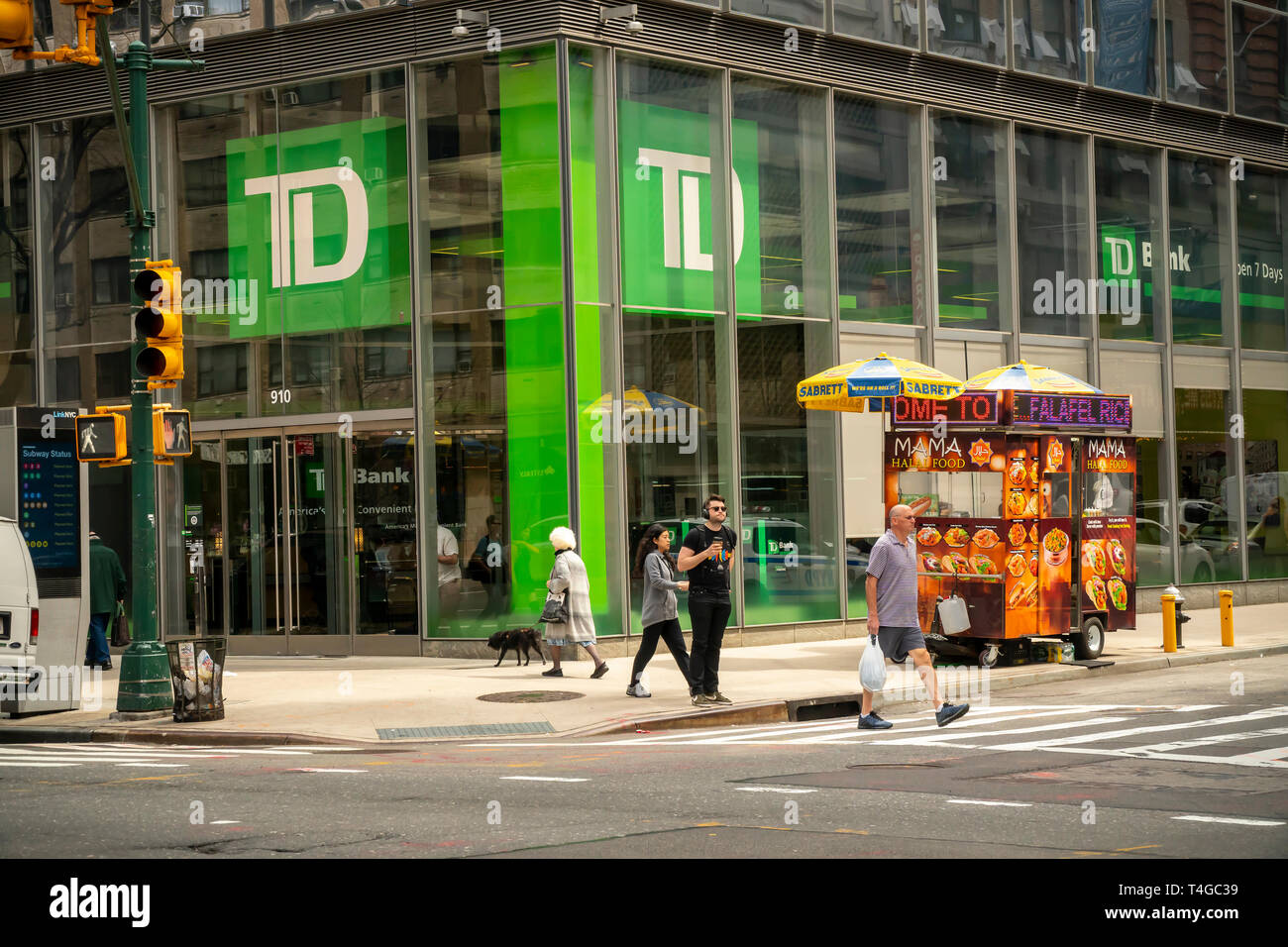 A branch of TD Bank in Midtown Manhattan in New York on