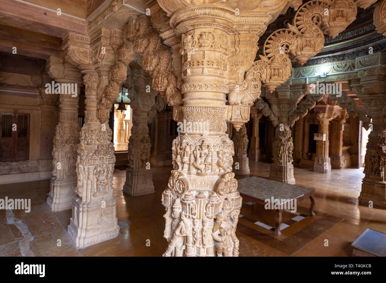 Chandraprabhu Jain Temple  jaisalmer, Rajasthan, India - Stock Image