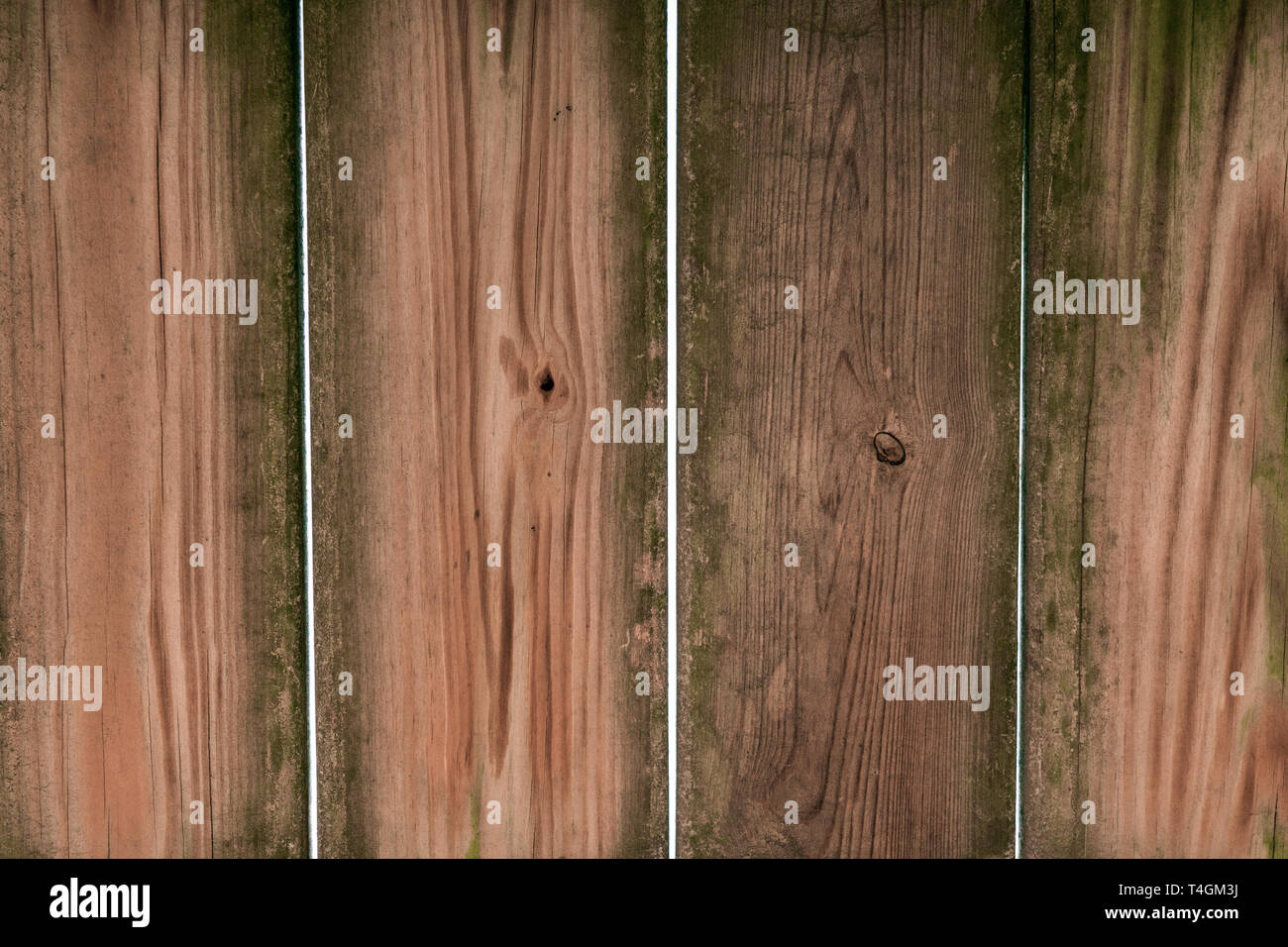 Old grimy dirty wooden planks - Stock Image
