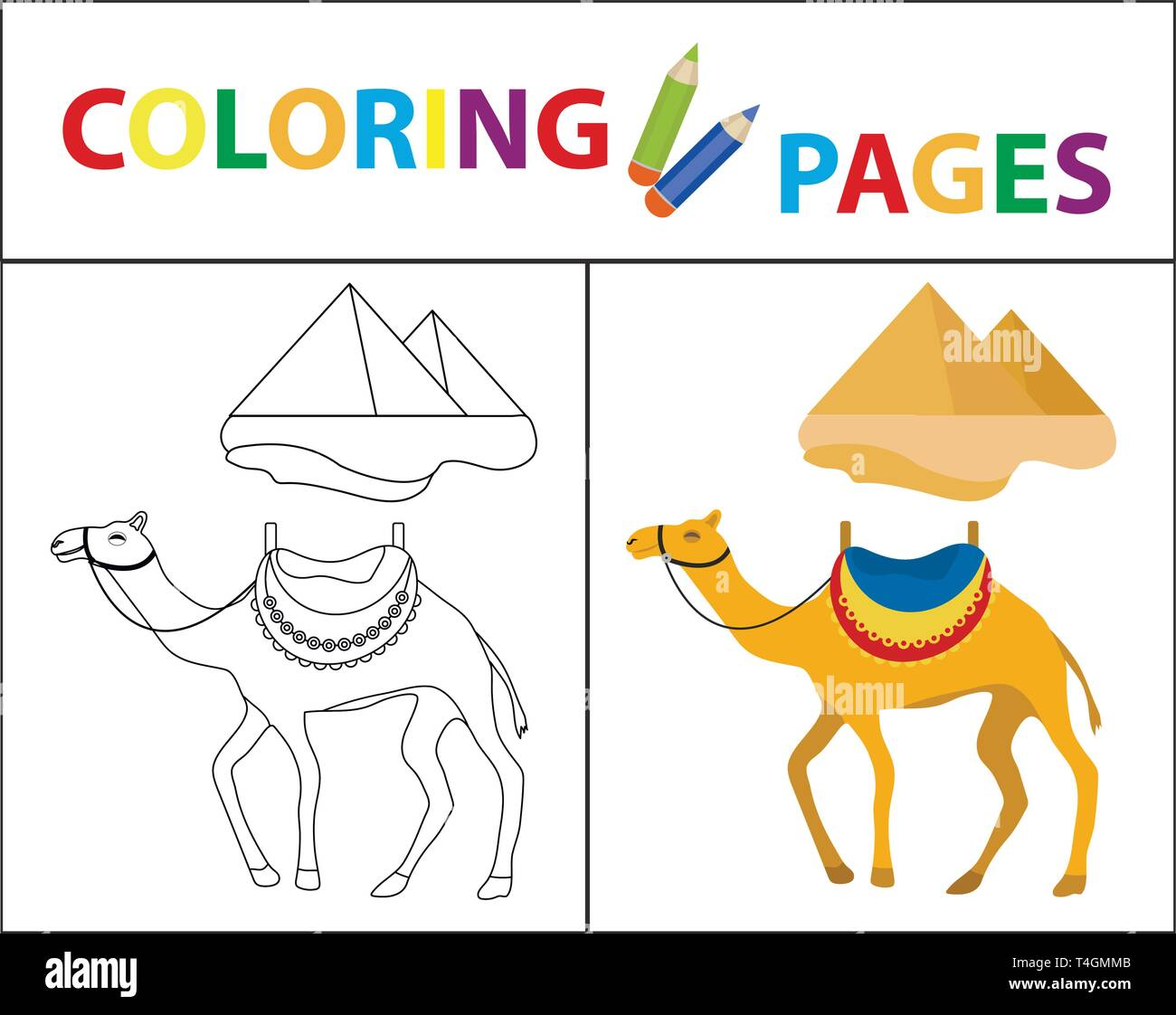 C Is For Camel Coloring Page 03 | Free C Is For Camel Coloring Page | 1122x1300