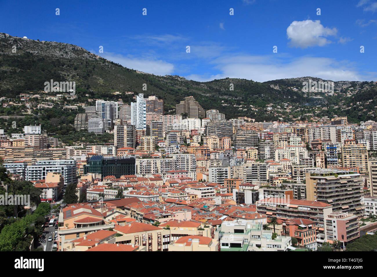 La Condamine, Monaco, Cote d Azur, Mediterranean, Europe - Stock Image