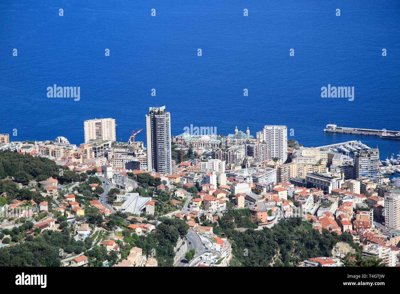 Monte Carlo, Monaco, Cote d'Azur, Mediterranean, Europe - Stock Image
