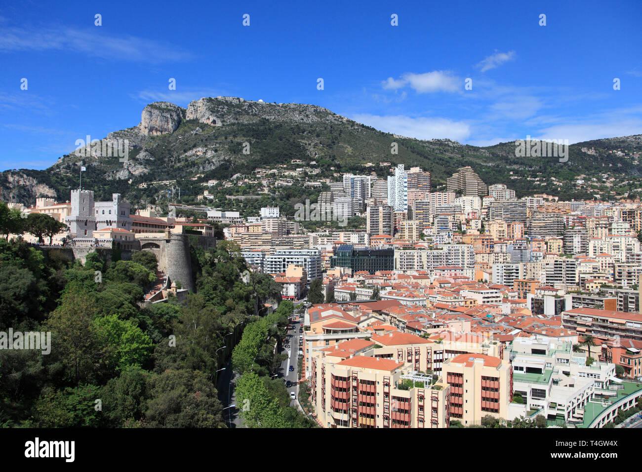 Princes of Grimaldi Palace, Royal Palace, Monaco-Ville, Le Rocher, The Rock, La Condamine, Monaco, Cote d Azur, Europe - Stock Image