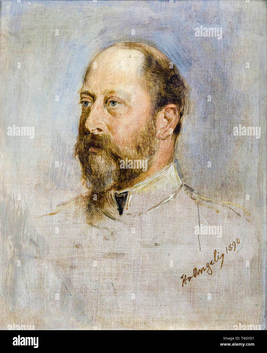 Heinrich von Angeli, King Edward VII, portrait painting, 1890 Stock Photo