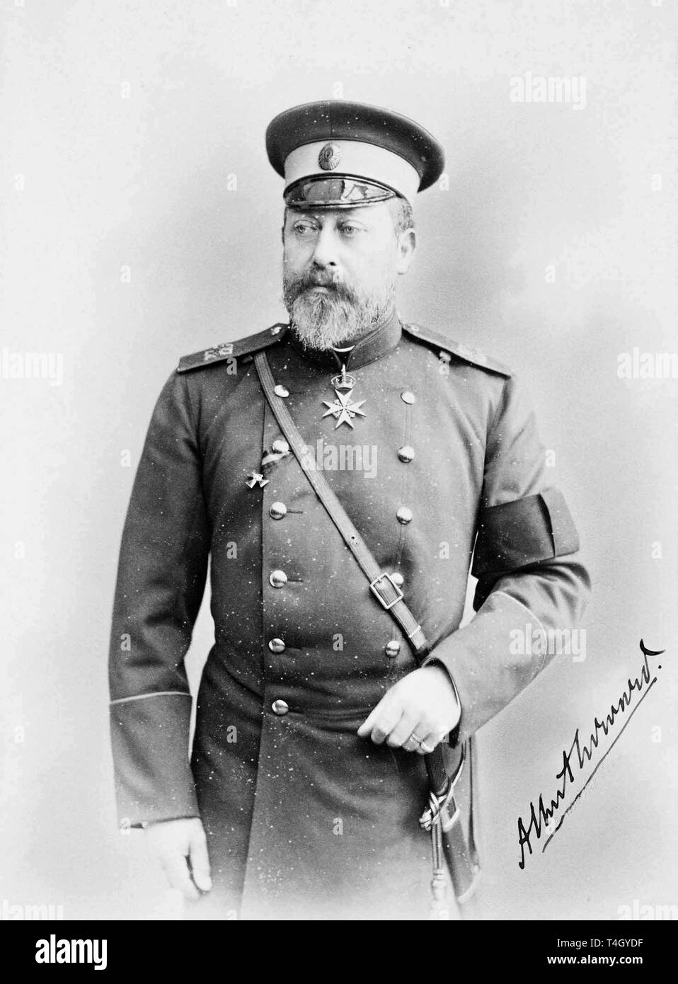 Photograph of Albert Edward, Prince of Wales, 1894 by A. Pasetti - Stock Image