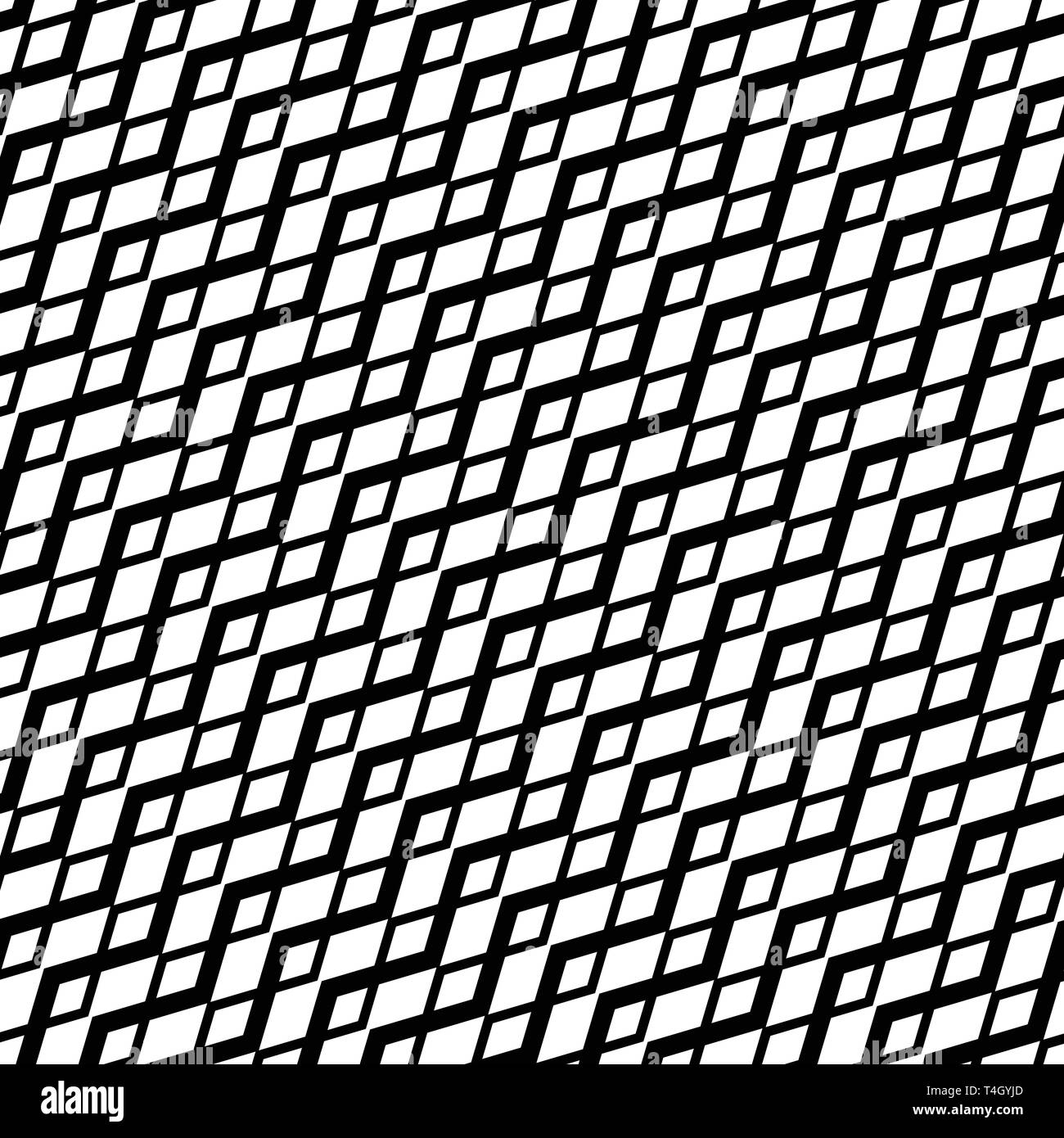 Grid, mesh with wavy, criss-cross, zig-zag lines  Abstract