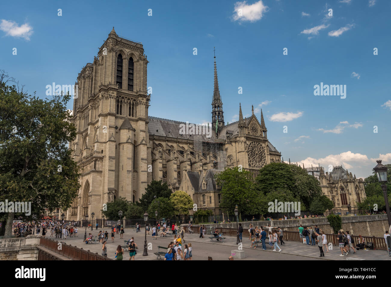 Paris, France, 06/30/2018 Notre Dame Cathedral - Stock Image