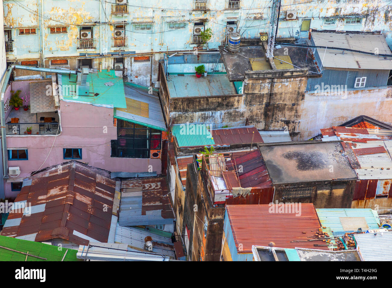 Colourful Roofs Of Traditional Vietnam Houses In Ho Chi Minh City Centre Saigon Vietnam Asia Stock Photo Alamy