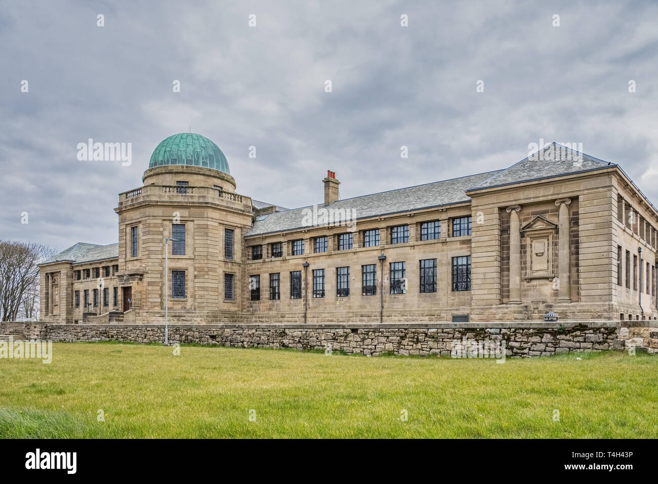Troon, Scotland, UK - April 14, 2019: The impressive buildings of Marr College a state funded secondary school. It is owned by the Marr Trust and is o Stock Photo