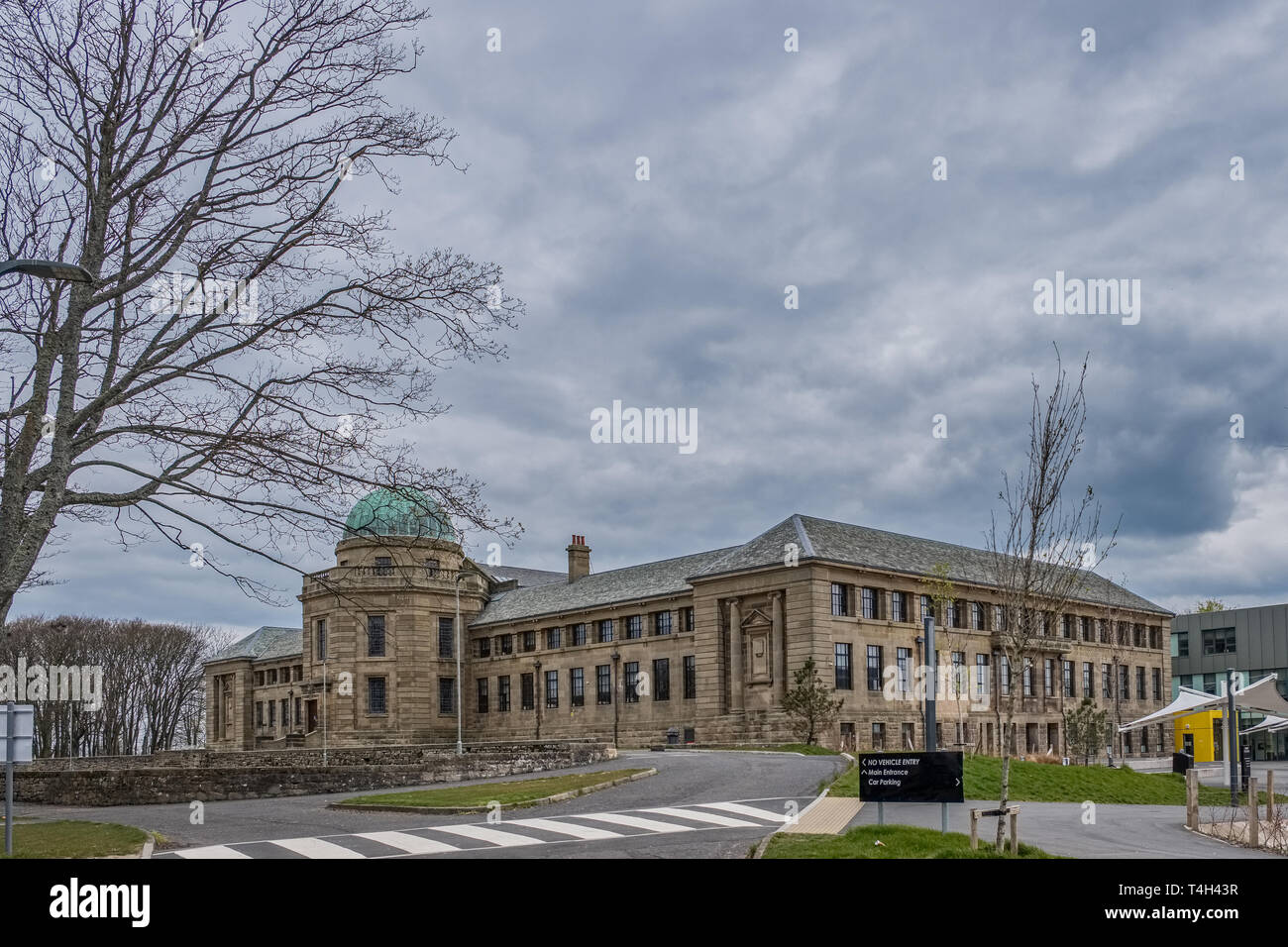 Troon, Scotland, UK - April 14, 2019: The impressive buildings of Marr College a state funded secondary school. It is owned by the Marr Trust and is o - Stock Image
