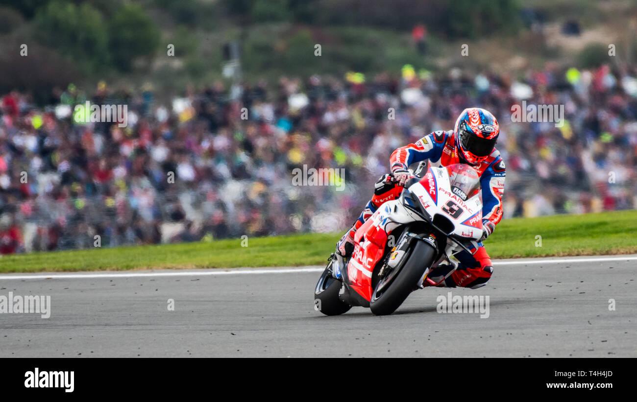 Valencia/Spain - 11/17/2018 - #9 Danilo Petrucci (ITA, Pramac Ducati) during qualifying for the Valencia GP at Ricardo Tormo - Stock Image