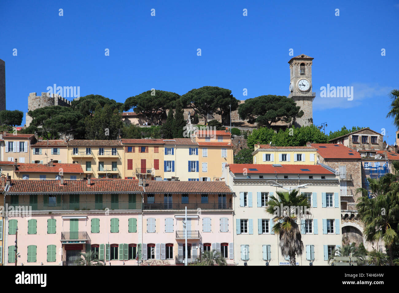 Le Suquet, Old Town, Cannes, Alpes Maritimes, Cote d'Azur, Provence, French Riviera, France, Europe - Stock Image