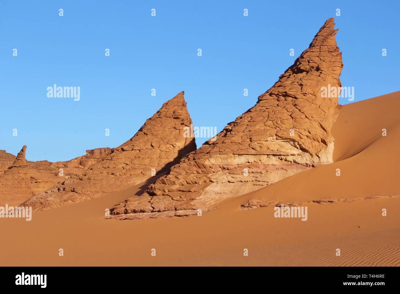 Tchad Sahara desert, Bourkou - Stock Image