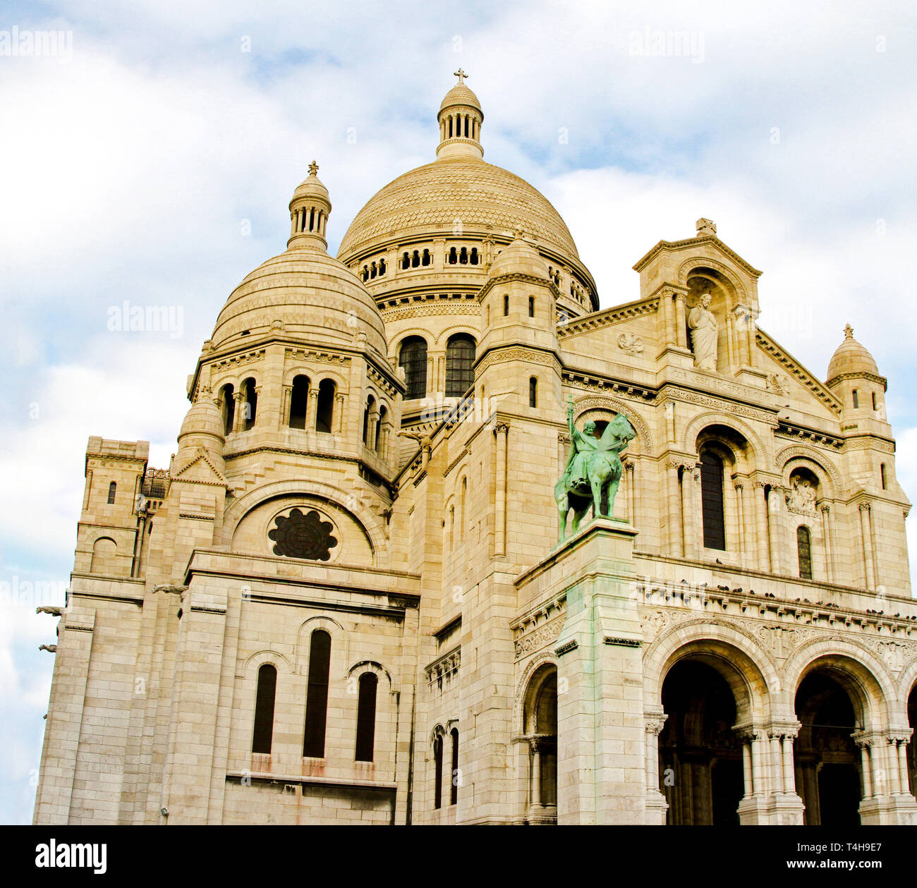 Basilica of the Sacred Heart of Jesus of Paris - Stock Image