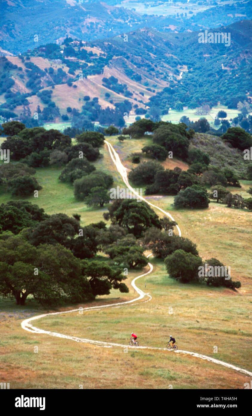 California Monterey County Laguna Seca Recreational Area Fort Ord Public Lands bike trail - Stock Image