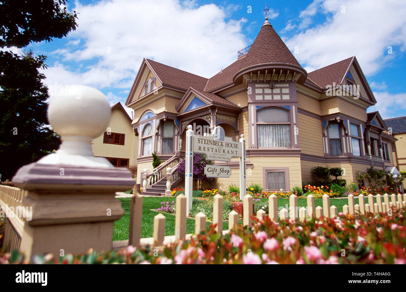 California Monterey County Salinas Valley Salinas Central Avenue birthplace home author John Steinbeck - Stock Image