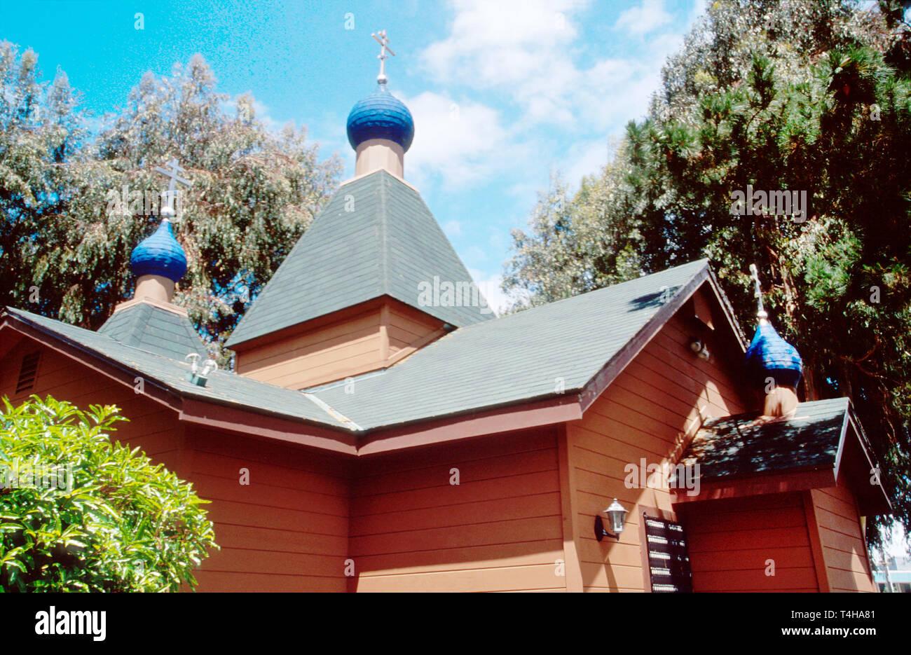 California Monterey County Seaside St. Seraphim Eastern Orthodox Church - Stock Image