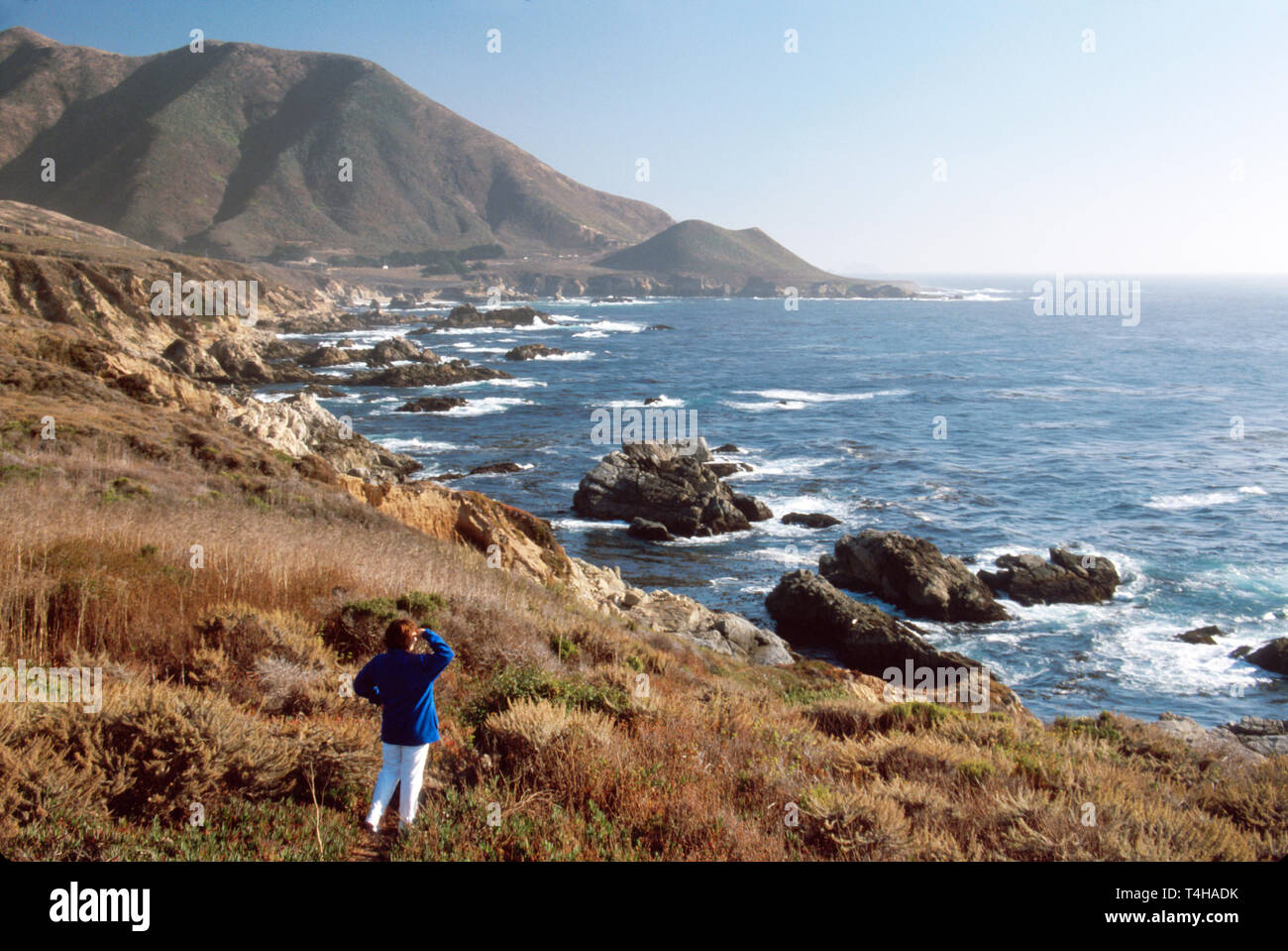 California Monterey County Big Sur Highway south of Carmel Highlands - Stock Image