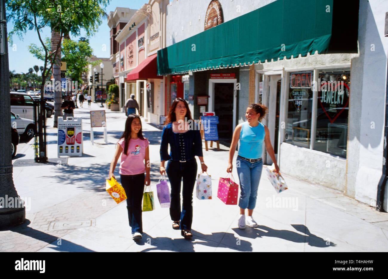 California Ventura Main Street shopping Stock Photo